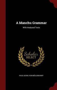 A Manchu Grammar