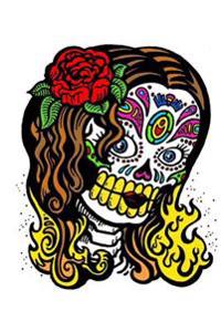 Female Sugar Skull Journal: 160 Page Lined Journal/Notebook