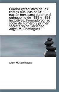 Cuadro Estadistico de Las Rentas Publicas de La Nacion Mexicana Durante El Quinquenio de 1889 y 1893