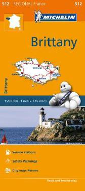 Michelin Regional Maps: France: Brittany Map 512