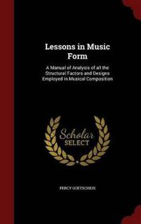 Lessons in Music Form