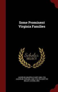 Some Prominent Virginia Families