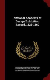 National Academy of Design Exhibition Record, 1826-1860