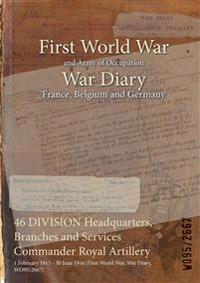 46 DIVISION Headquarters, Branches and Services Commander Royal Artillery : 1 February 1915 - 30 June 1916 (First World War, War Diary, WO95/2667)