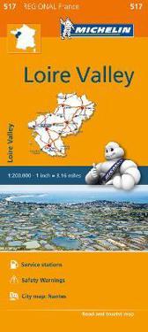 Michelin Regional Maps: France: Loire Valley Map 517