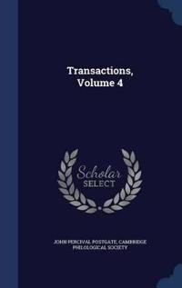 Transactions; Volume 4