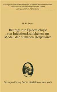 Beitrage Zur Epidemiologie Von Infektionskrankheiten am Modell Der Humanen Herpesviren