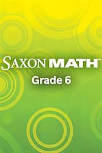 Saxon Math Course 1: Assessments Grade 6