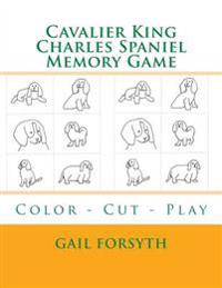 Cavalier King Charles Spaniel Memory Game: Color - Cut - Play