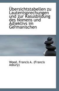 Ubersichtstabellen Zu Lautentsprechungen Und Zur Kasusbildung Des Nomens Und Adjektivs Im Germanisch