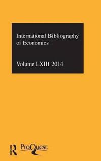 The International Bibliography of Economics 2014