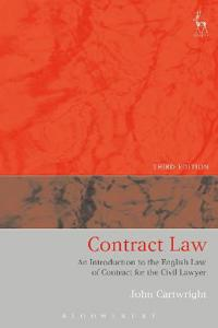 Contract Law: An Introduction to the English Law of Contract for the Civil Lawyer (Third Edition)