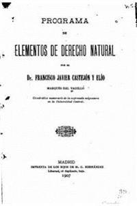Programa de Elementos de Derecho Natural
