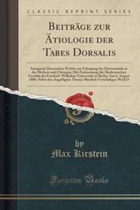 Beitrage Zur Atiologie Der Tabes Dorsalis
