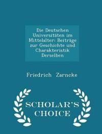 Die Deutschen Universitaten Im Mittelalter