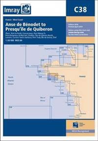 Imray chart c38 - anse de benodet to presquile de quiberon