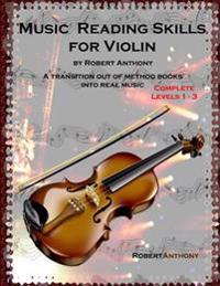 Music Reading Skills for Violin Complete Levels 1 - 3