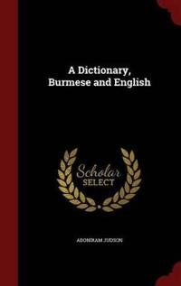 A Dictionary, Burmese and English