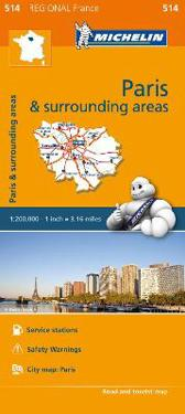 Michelin Regional Maps: France: Paris and Surrounding Areas Map 514