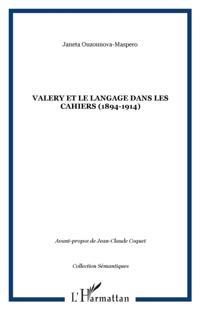 Valery et le langage dans les cahiers (1894-1914)