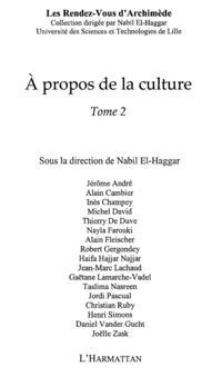 propos de la culture - tome2