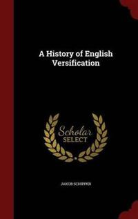 A History of English Versification