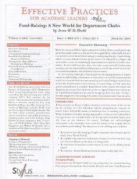 Fund-Raising: A New World for Department Chairs: Issue 4