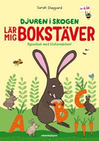 Djuren i skogen lär mig bokstäver : Pysselbok med klistermärken