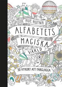 Alfabetets magiska värld - 30 vykort att färglägga