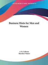 Business Hints for Men and Women 1910
