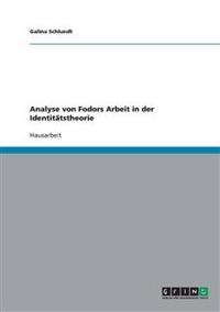 Analyse Von Fodors Arbeit in Der Identitatstheorie