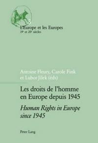 Les Droits De L'Homme En Europe Depuis 1945