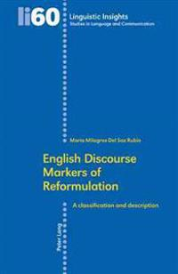 English Discourse Markers of Reformulation