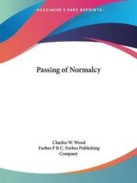 Passing of Normalcy 1929