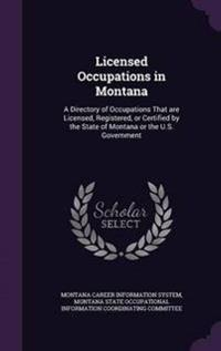 Licensed Occupations in Montana