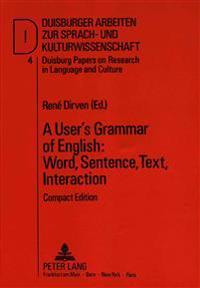 User's Grammar of English