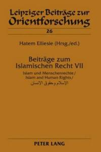 Beitrage Zum Islamischen Recht VII