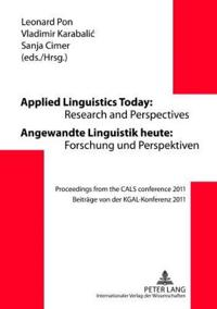 Applied Linguistics Today / Angewandte Linguistik Heute