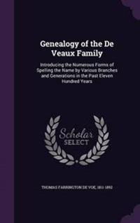 Genealogy of the de Veaux Family