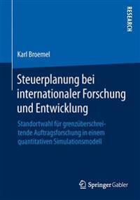 Steuerplanung Bei Internationaler Forschung Und Entwicklung