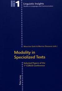 Modality in Specialized Texts