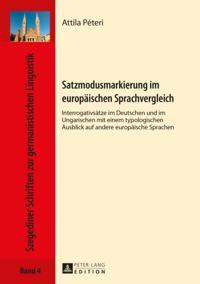 Satzmodusmarkierung im europaeischen Sprachvergleich