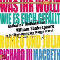 Katharina Thalbach liest William Shakespeare in der Übersetzung von Thomas Brasch