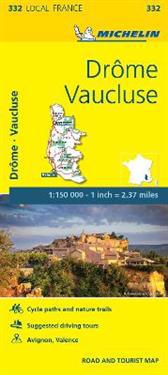Drome, Vaucluse - Michelin Local Map 332