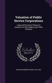 Valuation of Public Service Corporations