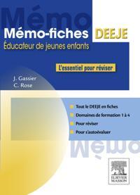 Memo-Fiches DEEJE - Diplome d'Etat d'educateur de jeunes enfants