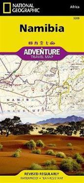 National Geographic Adventure Travel Map Namibia Africa