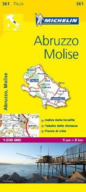 Abruzzo Molise Michelin 361 delkarta Italien : 1:200000