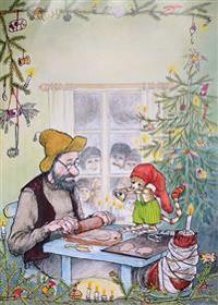 Pettson får julbesök Affisch A2