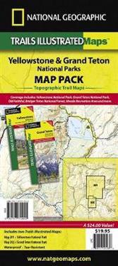 National Geographic Trails Illustrated Topographic Maps Yellowstone & Grand Teton National Parks Map Pack